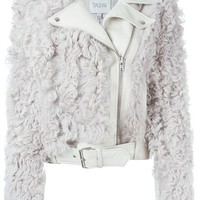 Dagmar Faux Fur Panel Biker Jacket - The Shop At Bluebird - Farfetch.com