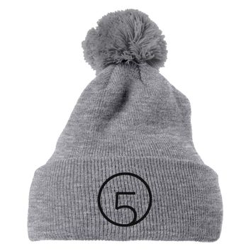 Fifth Harmony Logo Embroidered Knit Pom Cap
