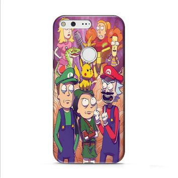Rick and Morty Mario bros Google Pixel 2 case