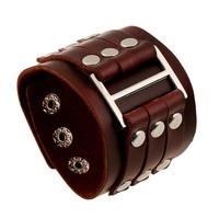 Great Deal Shiny Hot Sale Awesome Stylish New Arrival Gift Accessory Punk Rivet Leather Men Bracelet [6526715203]