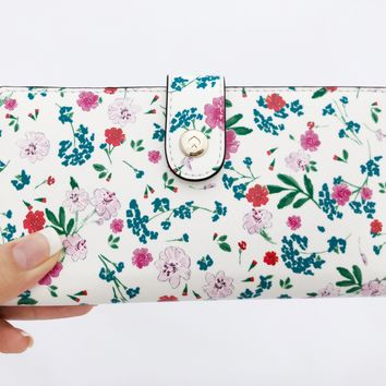 Kate Spade Gardner Street Greenhouse Stacy Bifold Wallet Cream Floral