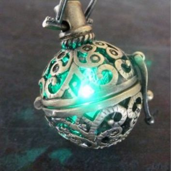 Steampunk FIRE necklace - pendant charm locket jewelry-GREAT little GIFT