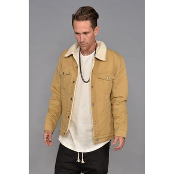 Bull Denim Borg Lined Jacket (Wheat)
