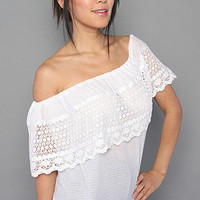 The Ibiza Off Shoulder Top in Snow White by Free People | Karmaloop.com - Global Concrete Culture