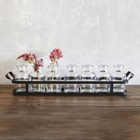 Apothecary Bottles with Tray - Set of 7