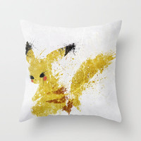 Pikachu Throw Pillow by Melissa Smith | Society6