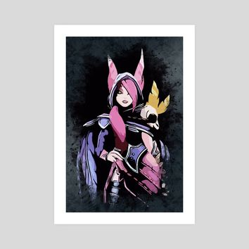 Beautiful XAYAH, an art print by Dusan Naumovski