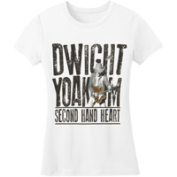 Dwight Yoakam Women's  Second Hand Heart Guitar Photo Girls Jr White