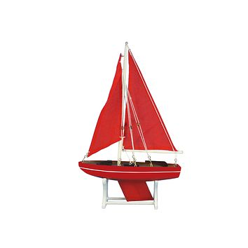 Wooden It Floats Ruby Compass Model Sailboat 12""