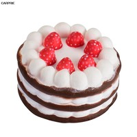 Car Toy Ornaments Decoration Auto Simulation Stress Reliever Strawberry Cake Adornment Products Automobiles TJ