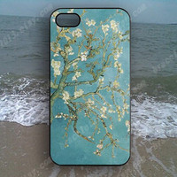 Tree blue and white tree flowers Phone case,Samsung Galaxy S5/S4/S3,iPhone 4/4S case,iPhone 5 case,iPhone 5S case,iPhone 5C case,B86