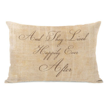 Happily Ever After Stacked Throw Pillow by OBC