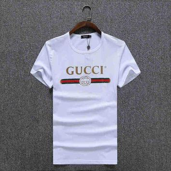 DCCK8H2 Trendsetter GUCCI Women Man Fashion Print Sport Shirt Top Tee
