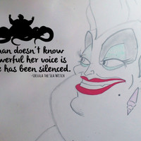 Inspired by The Little Mermaid Wall Decal Sticker Ursula Powerful Voice