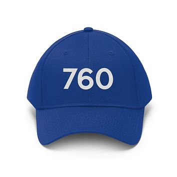 California 760 Area Code Embroidered Twill Hat