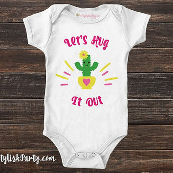 SHIPS FREE Girl Cactus Baby Onesuit ® or Tee - Funny Cactus Baby Boy Onesuit ® - Baby Shower Gift Onesuit ® Graphic Tee - Shirts with Sayings