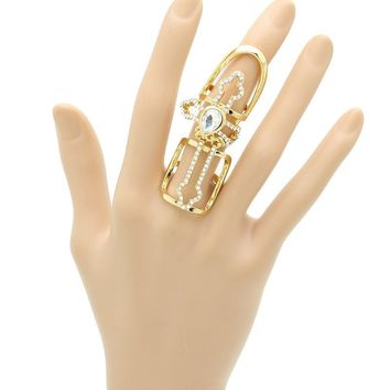 Layered Cross Armour Knuckle Ring 138