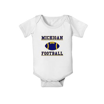 Michigan Football Baby Romper Bodysuit by TooLoud