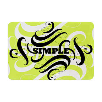 "Roberlan ""Simple"" Lime Green Memory Foam Bath Mat"
