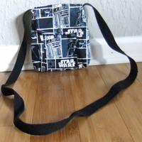 Small Messenger Bag - made by me with star wars licensed fabric - crossover purse