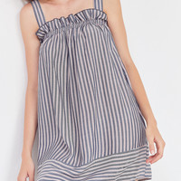 Cooperative Ruffle Edge Striped Slip Dress | Urban Outfitters