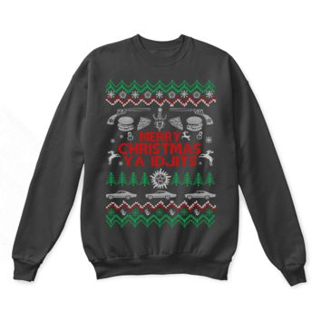 Merry Christmas Ya Idjits Supernatural Ugly Sweater