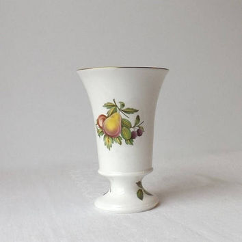 ON SALE - Spode Blenheim Spill Vase, Fruit Motif, Vintage Bone China, Made in England