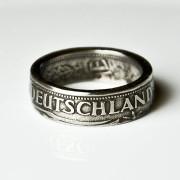 Coin Ring - Germany - 1 Deutsche Mark - Size 7