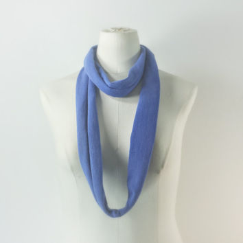 SKINNY SCARF - NEON Blue Infinity Scarf - Blue Violet Scarf Necklace - Skinny Large