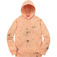 Supreme: Spider Web Hooded Sweatshirt - Peach