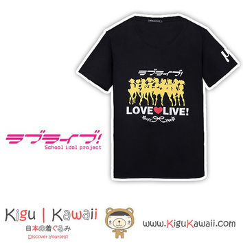 New Stylish Love Live Unisex Black Tshirt Otaku Lifestyle KK769
