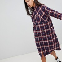 Noisy May Check Shirt Dress at asos.com