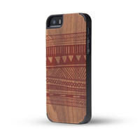 Walnut Wood Carpet Print Wooden Case For iphone 5 5S