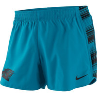 Carolina Panthers Nike Women's Warpspeed Pacer Performance Shorts - Panther Blue