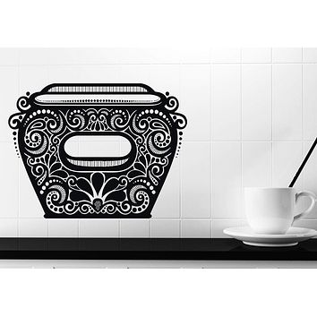 Wall Sticker Vinyl For Kitchen Amphora Antique Ceramic Vessel with Pattern Unique Gift (n530)