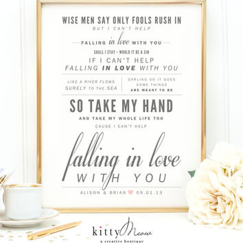 Shop paper wedding anniversary on wanelo ingrid michaelson or elvis presley cant help falling in love valentines mightylinksfo