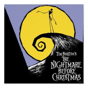 Tim Burton's The Nightmare Before Christmas Posters from Zazzle.com