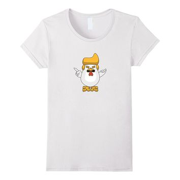 Donald Trump Giant Rooster Fried Chicken Funny T-Shirt
