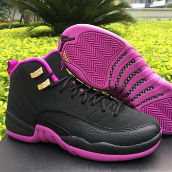 "Air Jordan 12 GS ""Hyper Violet"" Women Basketball Shoes US 5.5-8.5"