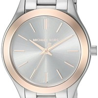 Michael Kors Women's Mini Slim Runway Silver-Tone Watch MK3514