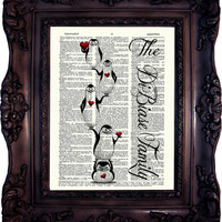 Father's Day Gift for Dad from Daughter Gift for Dad Gift from Son gift Husband Gift Daddy Gift Papa Gift Anniversary Gift Penguin art C:636