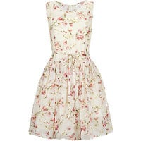 Red Valentino Floral Prom Dress