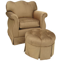 Angel Song 201721175Down Aspen Bark Adult Empire Rocker Glider w/ Plush Down Cushion