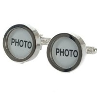 Picture Photo Personalized Functional Initial Cufflinks