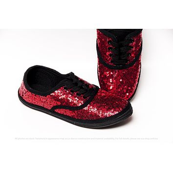 Ladybug Red Starlight Sequin Canvas Sneakers