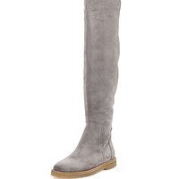 Coleton Suede Over-the-Knee Boot, Graphite - Vince - Graphite (38.0B/8.0B)
