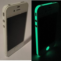 TCD for Apple iPhone 5 5S [GLOW IN THE DARK] Vinyl Bumper Side Sticker Skin Set - Adhesive sticker - no sticky residue