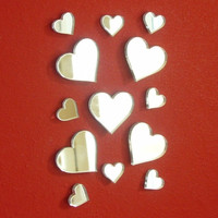 Heart Mirrors Pack of 10 2cm x 2cm