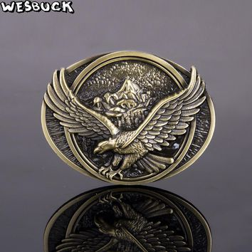 WesBuck Eagle Metal Western Fashion Belt Buckle
