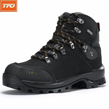TFO Hiking shoes women Hiking boots shoes Outdoor sport trekking Leather Waterproof hiking climbing hunting mountain tactical